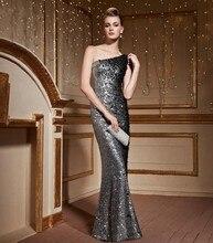 Luxus 2016 Abendkleider Mermaid Pailletten Perlen Strass Robe De Soiree Kaftan Formale Kleider Hochzeit Celebrity Dress