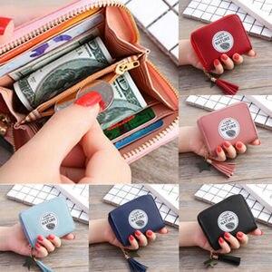 Women Mini Coin Wallet Zipper