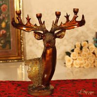 retro deer candle Taiwan Home Furnishing jewelry hotel decoration romantic candlelight dinner ornaments jewelry