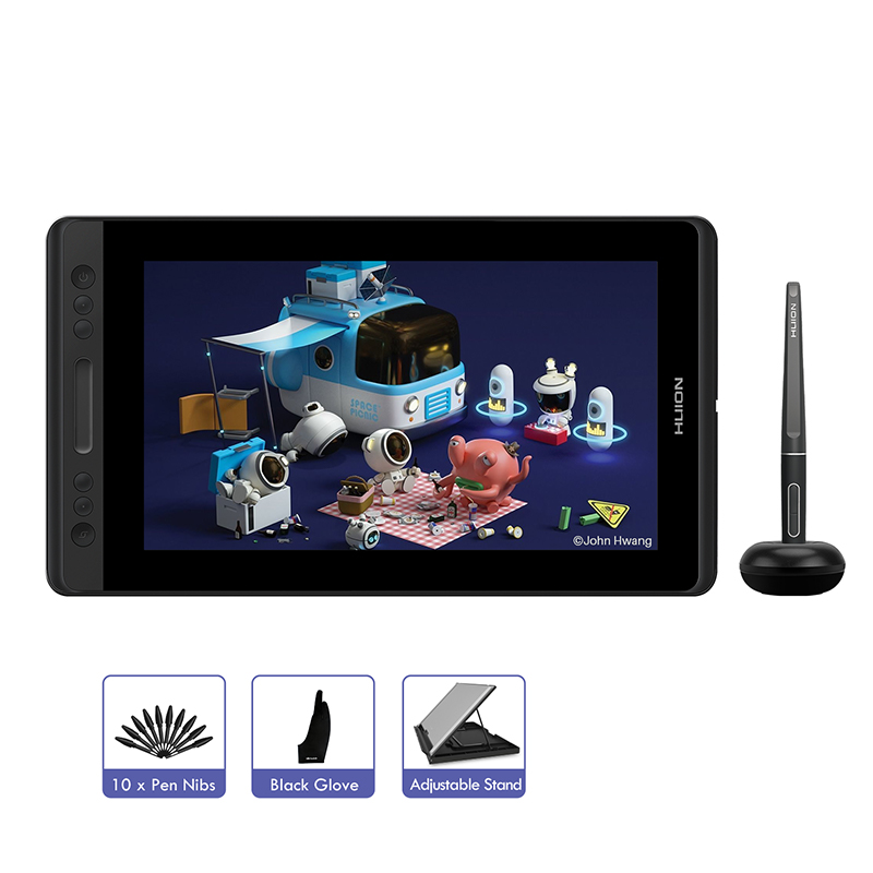 KAMVAS Pro 12 11.6-inch Digital Graphics Tablet Passive Pen Display Drawing Monitor With Tilt Function Touch Bar--Huion GT-116