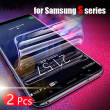 2PCS Full Cover Soft Hydrogel Film for Samsung Galaxy S10 PLUS S10E Note 8 9 S8 S9 Screen Protector Edge Plus No Glas