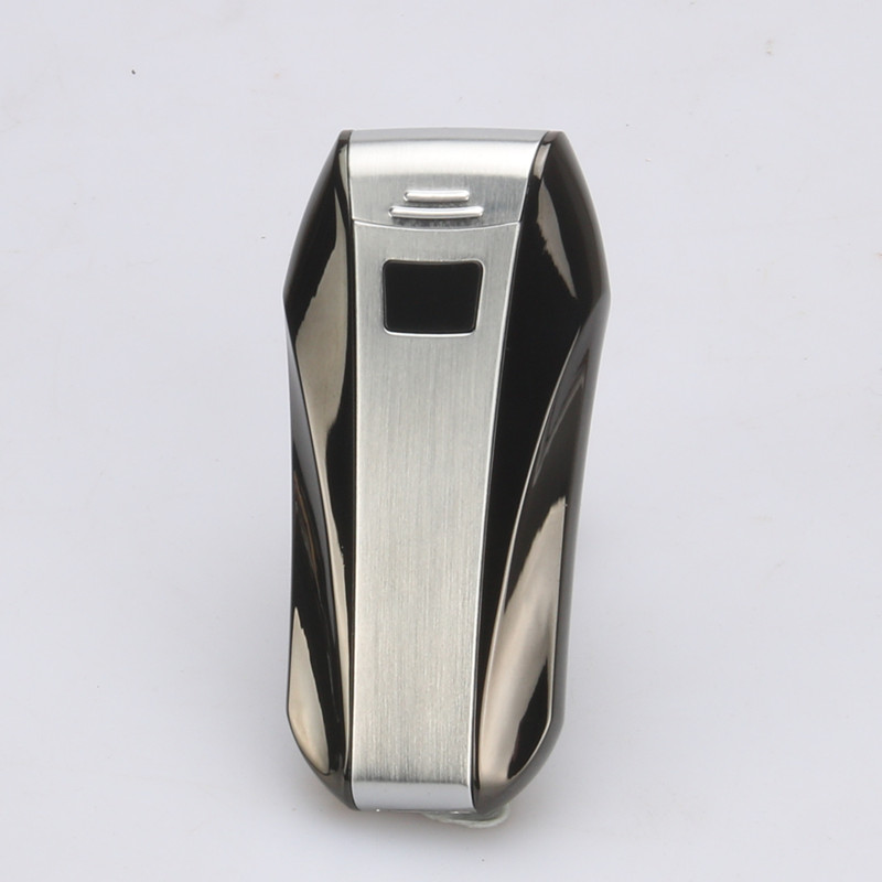 Ultra Thin Mirror LED Cross Double Arc Lighter USB Pulse Cigar Lighters Men Cigarette lighter Gifts in Cigarette Accessories from Home Garden