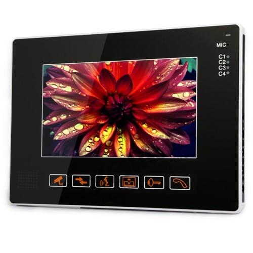 HOMSECUR 9 LCD IR puerta timbre del teléfono sistema de seguridad del hogar + 1 cámara CCTV para monitorizar - 5