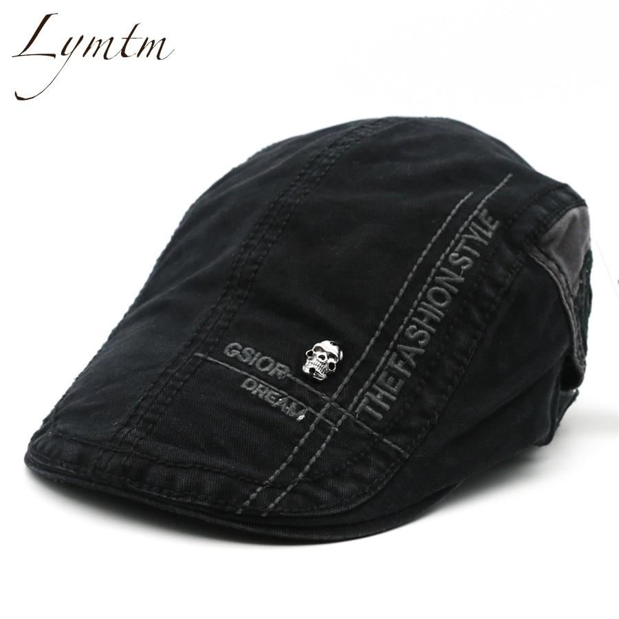 [Lymtm] Men Cotton British Letter Embroi