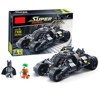 Bainily Super Heroe Batman Race Truck Car Model Technic Building Block SetS DIY Toys Compatible