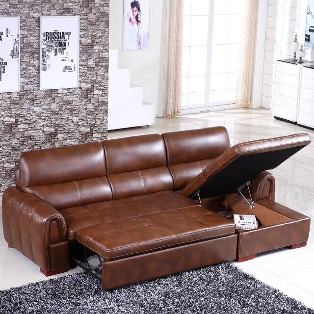 3 metro cuoio rigenerato divano divano letto mobili per la casa CE ...