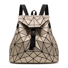 2019 New Women Hologram Backpack Geometric Backpacks Girls Travel Shoulder Bags For Totes Luxury Bag Silver