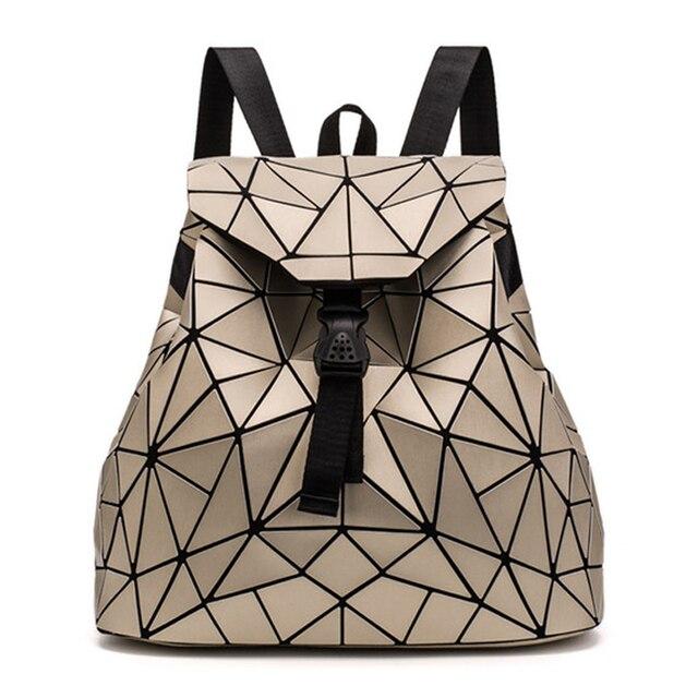 2019 New Women Hologram Backpack Geometric Backpacks Girls Travel Shoulder Bags For Women Totes Luxury Shoulder Bag Silver