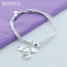 Silver Love Hook Heart Bracelet