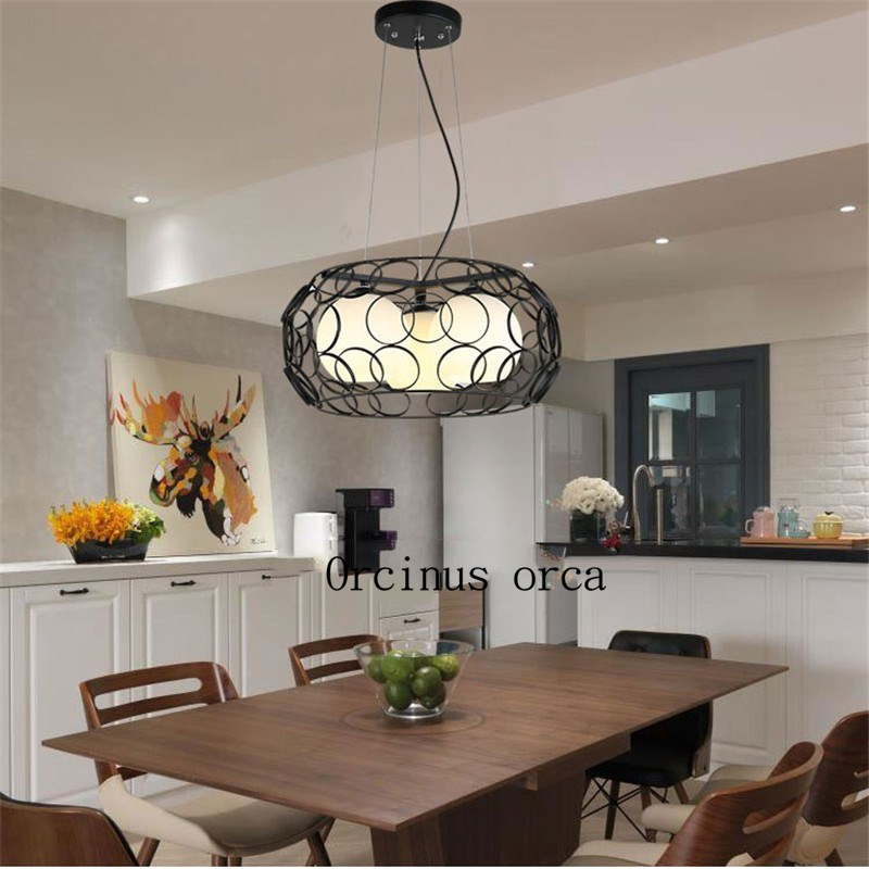 Restaurant chandelier creative personality dining room lights Nordic dining room lights three modern simple aisle bar meal hangi цена