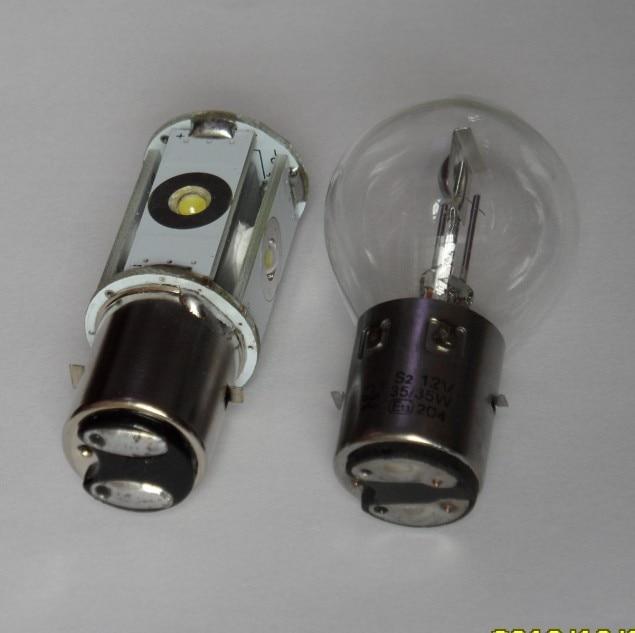 Trocar lampada S2 para H4 Bicicleta-el-trica-bicicleta-el-trica-farol-l-mpada-de-ilumina-o-led-s2-ba20d-di
