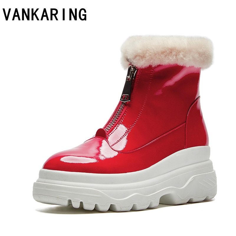 fashion ankle boots women shoes high quality genuine leather fur casual wedges high heels platform shoes woman winter snow boots high quality genuine leather women shoes fashion female casual shoes heart