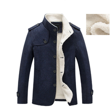 Mountainskin Winter Mens Coat Fleece Lined Thick Warm Woolen Coats Autumn Overcoat Male Wool Blend Jackets Brand Clothing