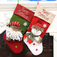 Christmas Decorations For Home Large Stockings Santa Claus Snowman Xmas Ornament Christmas Gifts Bags Navidad Party