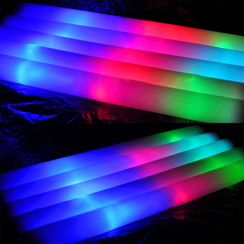 Glow Foam Sticks Party LED Flashings Vocal Concert Reuseable Holiday Light-Up Golw Stick Funny Gadgets Interesting Toy