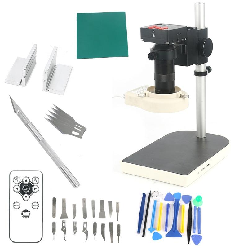 IR Fernbedienung Digitale HD 1080 p 20MP HDMI 100X Industrielle Elektronische Video Recorder Mikroskop Kamera Für Labor Telefon PCB