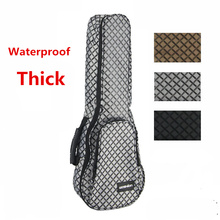 Plaid  Thicken Waterproof Soprano Concert Tenor Ukulele Bag Case Backpack 21 23 26 28 Inch Ukelele Guitar Accessories Parts Gig