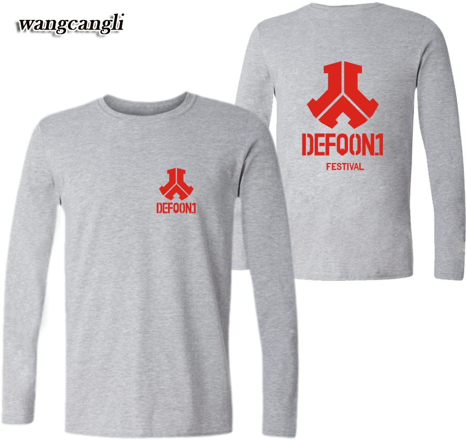 Wangcangli Defqon.1 2017 Kpop New Style Women/Men Long Sleeve Summer Music Festival Fashion Hiphop T-Shirts Plus Size 4XXXL