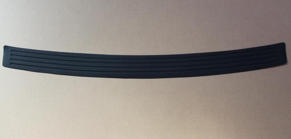 Авто задний бампер резиновый протектор для volkswagen vw Golf 7 jetta Golf 6, passat, bora, Skoda Octavia Fabia, superb - Название цвета: Черный