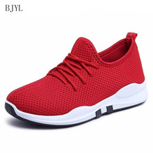 BJYL 2019 Summer Breathable Mesh Women Casual Shoes Vulcanize Female Fashion Sneakers Lace Up Soft Leisure Footwears B181