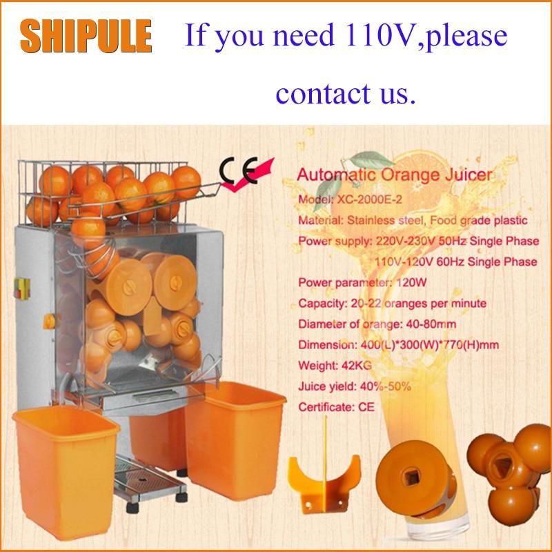 SHIPULE livraison gratuite 220 v électrique automatique orange presse-agrumes commercial frais orange juicer machine