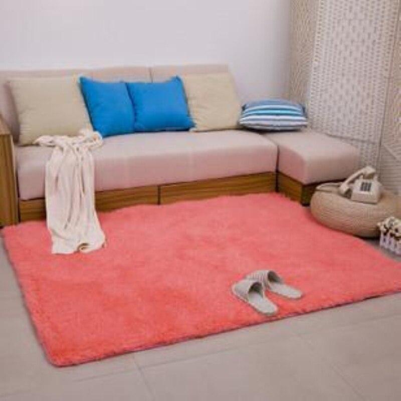 Nouveau mode rose moelleux tapis anti-dérapant Shaggy zone salon maison chambre tapis épais corail velours tapis de sol LOSICOE-S10