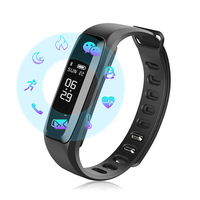 2017 New Sport ID Smart Bracelet Blood Pressure Monitor Wristwatch Heart Rate Monitor Smart Watch For