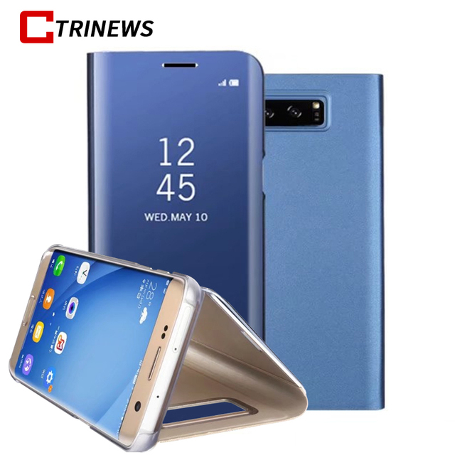 Mirror Clear View Phone Case For Samsung Galaxy A6 A6 Plus 2018 A3