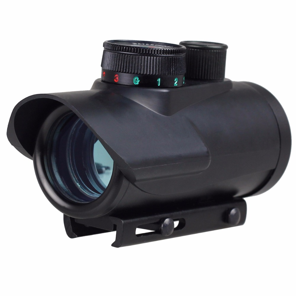 VERY100 Red/Green/Blue Dot BSA 30mm Rifle Pistol Scope Sight 20mm Weaver Mount RD30 For Outdoor Hunting