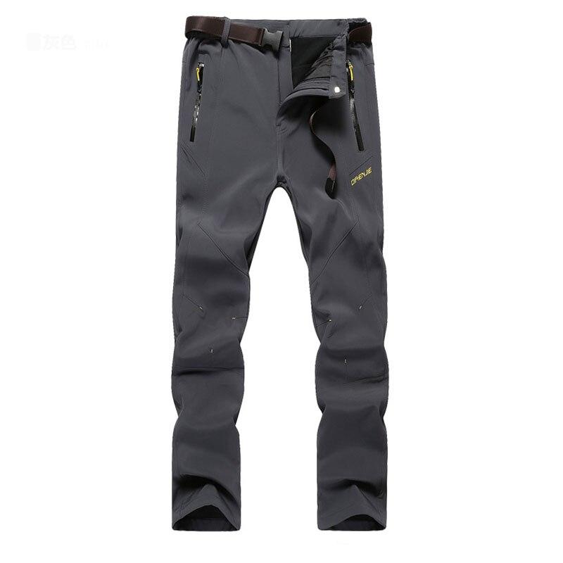 Men Hking Pants Fleece Windproof Waterproof Warm Thick Trousers Winter Spring Autumn Outdoor Sports Equipment Size L-5XL 5805 trousers moe l