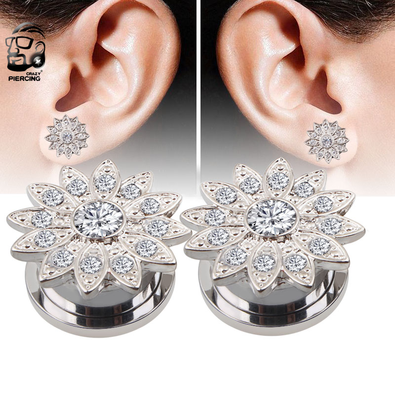 New Arrival Stainless Steel Ear Plugs Piercing Tunnels Expander