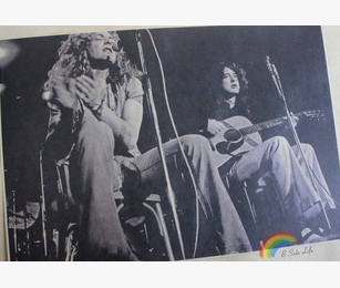 vintage led zeppelin rock posters bar cafe tattoo piano rehearsal painting home decoration wall canvas sticker christmas decorat in painting calligraphy - Led Zeppelin Christmas