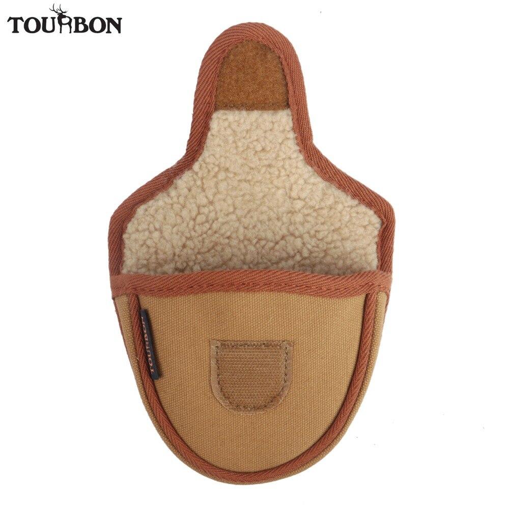 Tourbon Vintage Golf Mallet Putter Head Cover Closure Golf Headcover Khaki Canvas & Fleece Protector