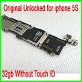 100% Хорошо Работает для iphone 5s Плате, 32 ГБ Оригинальный Разблокирована для iphone 5s Материнская Плата без Touch ID, Бесплатная Доставка