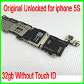 100% Good Working for iphone 5s Mainboard,32gb Original Unlocked for iphone 5s Motherboard without Touch ID,by Free Shipping
