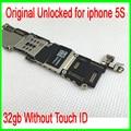 100% bom trabalho para iphone 5s mainboard, 32 gb desbloqueado original para iphone 5s motherboard sem touch id, por frete grátis