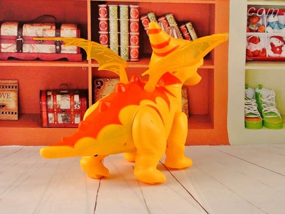 Electronic Toys Cartoon Electric Wings Dragon Light Voice Shook His Head Toy Dinosaur Childrens Educational Toys Model Unisex Electronic Electronic Pets