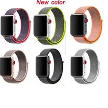 купить Series 4/3/2/1 sport loop strap for apple watch band nylon woven bracelet For iwatch wristband 38mm 42mm 40mm 44mm по цене 115.41 рублей
