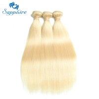 Sapphire Brazilian Straight Hair Bundles 613 Blonde Human Hair Weave 3PCS 613 Blonde Straight Human Hair