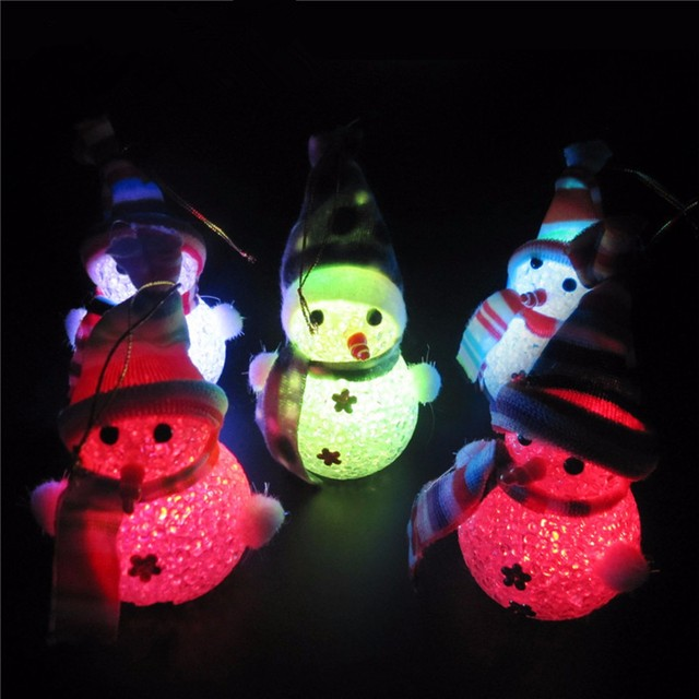 new arrival snowman night light toys for christmas decoration crafts light up toys for childern