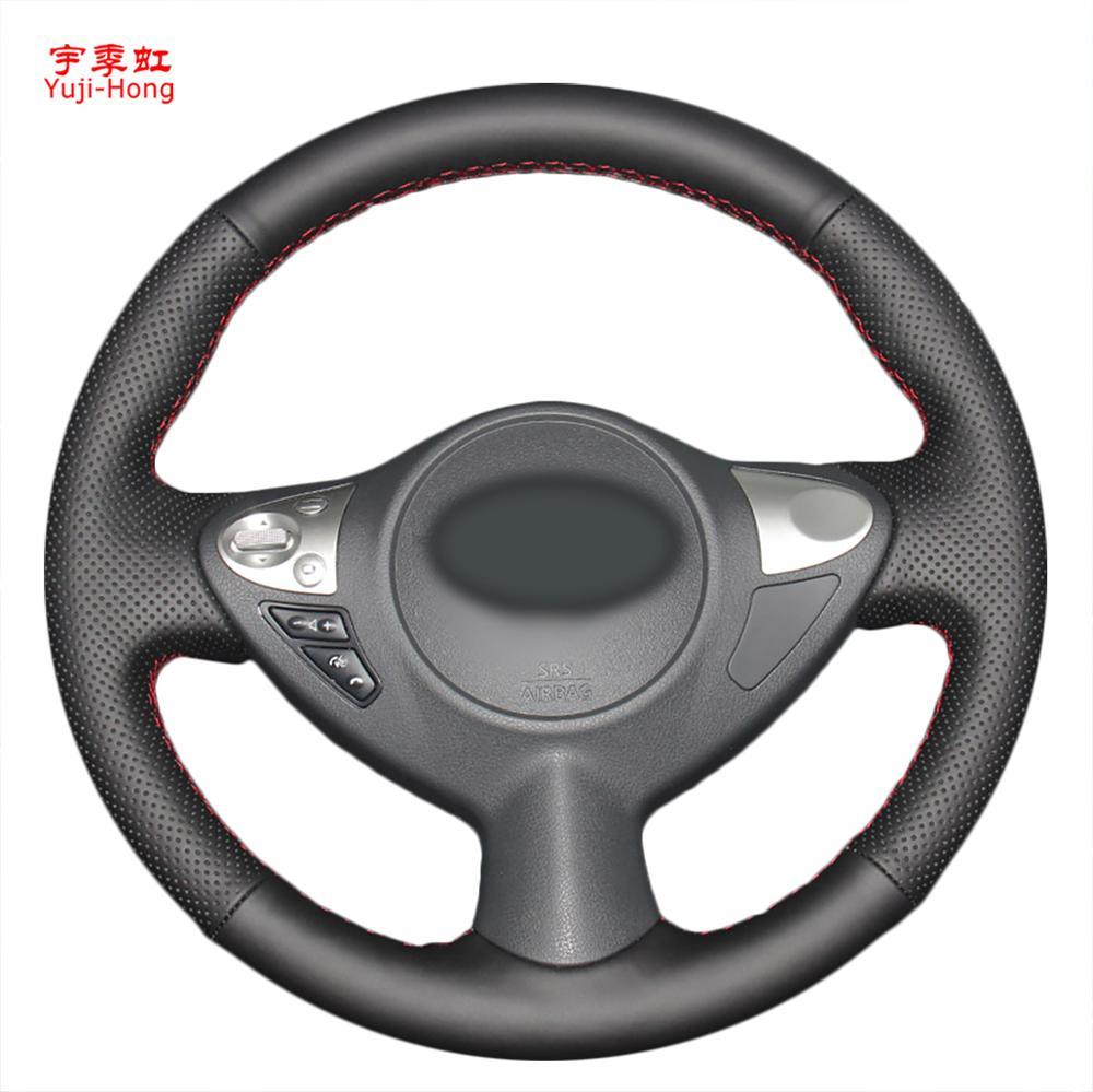Housse de volant de voiture en cuir véritable yuji-hong pour Nissan Bluebird Sylphy 2016 housse en cuir naturel