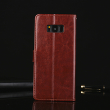 Luxury Genuine Leather Wallet Flip Cover Case for Samsung Galaxy S8 Coque Original