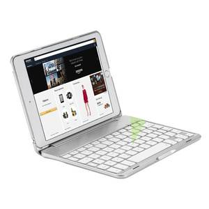Image 2 - For iPad mini 1/2/3/4/5 Ultra Thin Smart Aluminum Bluetooth Russian/Spanish/Hebrew Keyboard Case Cover With 7 Colors LED Backlit