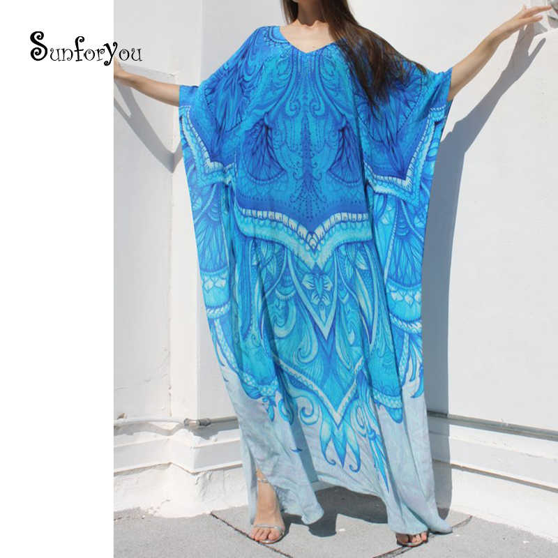 Plus size Cotton Long Beach Cover up Women Dresses Robe de Plage Vestidos  Playa Bikini cover d6fb73cc7b16