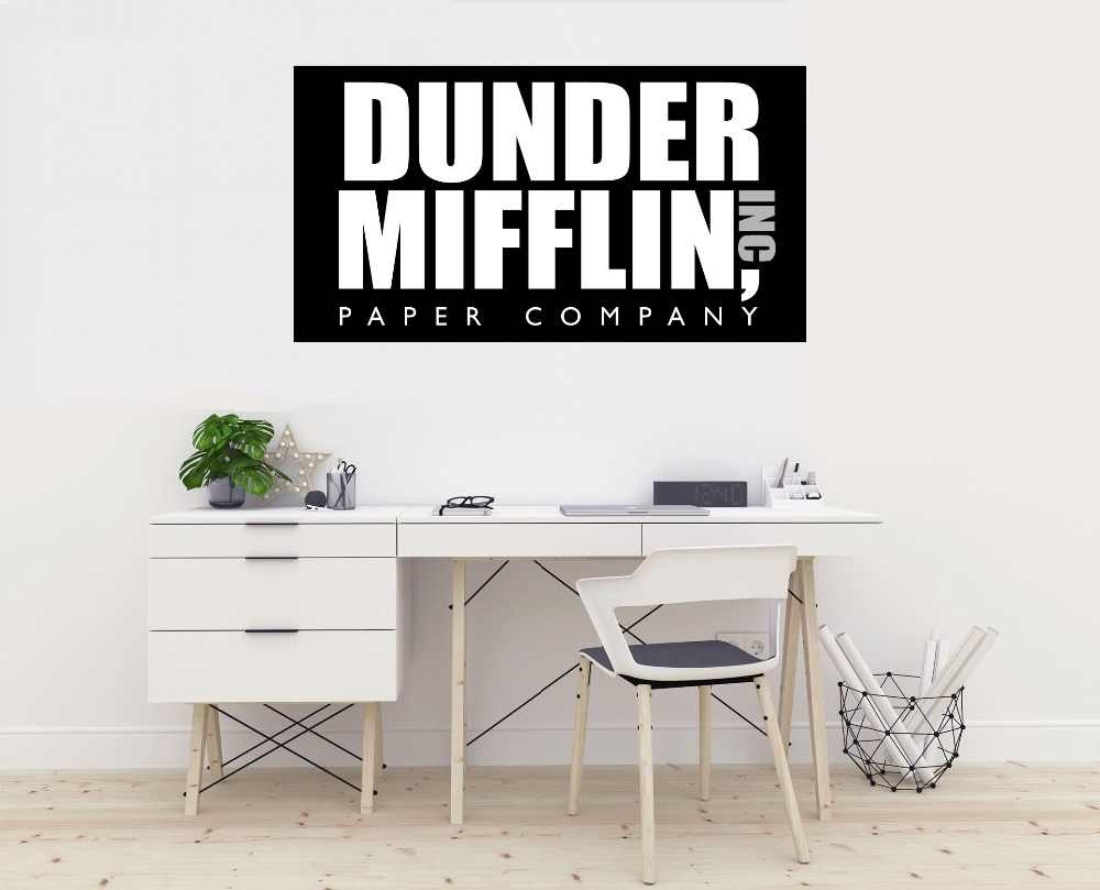 image about Dunder Mifflin Name Tag Printable referred to as Dunder Mifflin Paper Small business Brand- The Business office -Wall Decal Vinyl Sticker for Dwelling Internal Decoration Auto Personal computer Property Decor ZX599