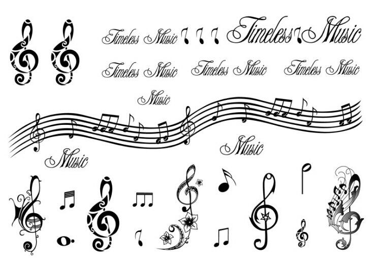 Impermeable A L Eau Temporaire Faux Autocollants De Tatouage Notes