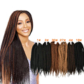 18'' Havana Mambo Crochet Twist Braid Hair Extension Afro Crotchet Braiding Hair Heat Resistant Hair Extension Braid