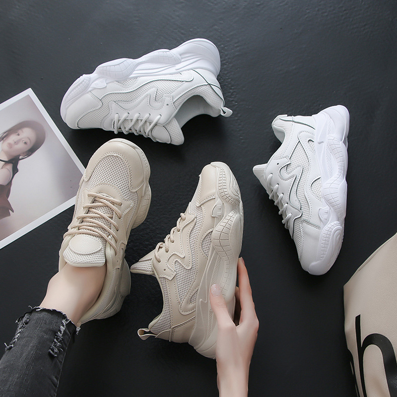 Outdoor sneakers women casual walking shoes 2019 spring new Breathable Comfortable white sport and lifestyle shoes in Walking Shoes from Sports Entertainment