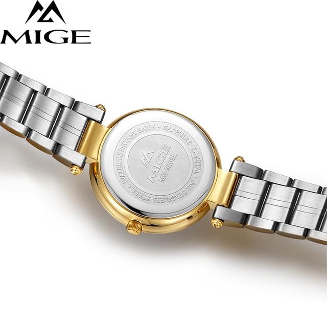 2017 New Time-limited Top Fashion Ultrathin Gold Ladies Watches Steel Watchband Saphire Waterproof Quartz Women Clock Watch 4