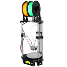 Auto leveling 3D Printer DIY Kit Dual Extruder Delta Rostock G2s Double nozzles With LCD Screen